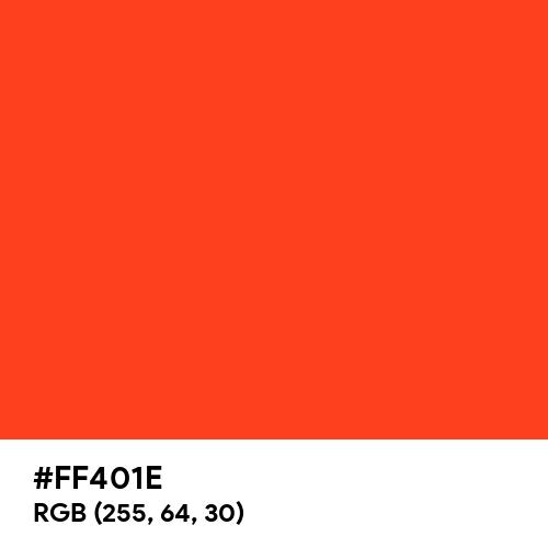 Scarlet Flame (Hex code: FF401E) Thumbnail
