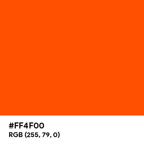 International Orange (Aerospace) (Hex code: FF4F00) Thumbnail