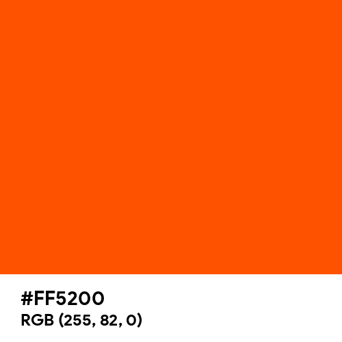 International Orange (Aerospace) (Hex code: FF5200) Thumbnail