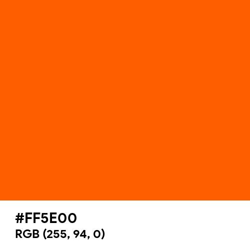 Electric Orange (Hex code: FF5E00) Thumbnail