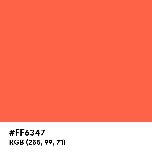 Tomato (Hex code: FF6347) Thumbnail
