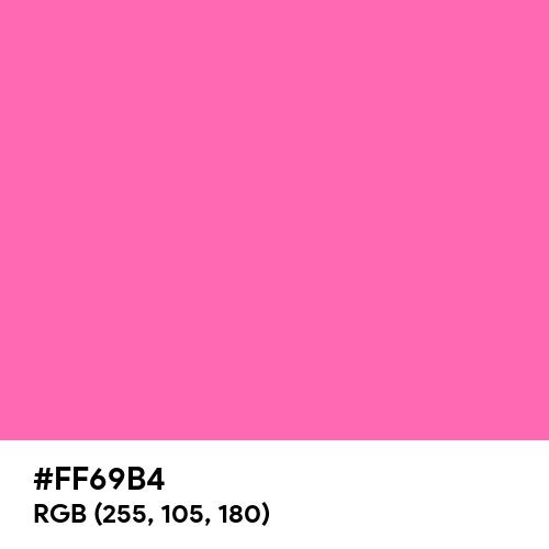 Hot Pink (Hex code: FF69B4) Thumbnail