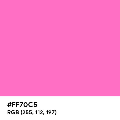 Fluorescent Pink (Hex code: FF70C5) Thumbnail