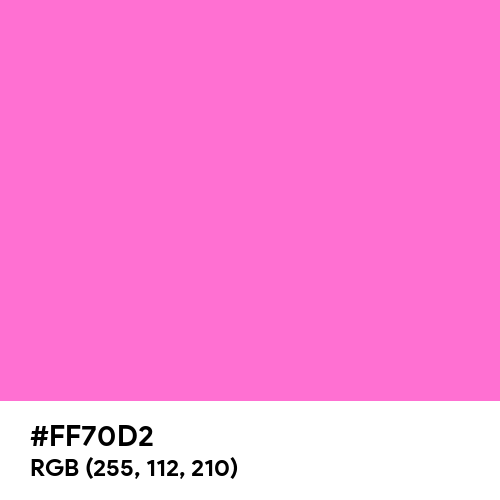 Shiny Pink (Hex code: FF70D2) Thumbnail