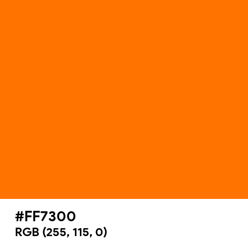 Vibrant Rich Orange (Hex code: FF7300) Thumbnail