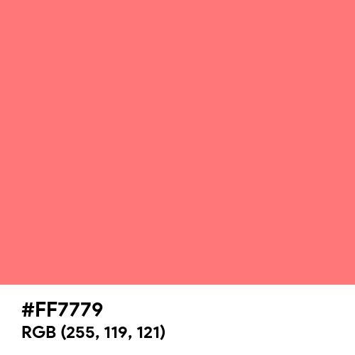 Baby Red (Hex code: FF7779) Thumbnail