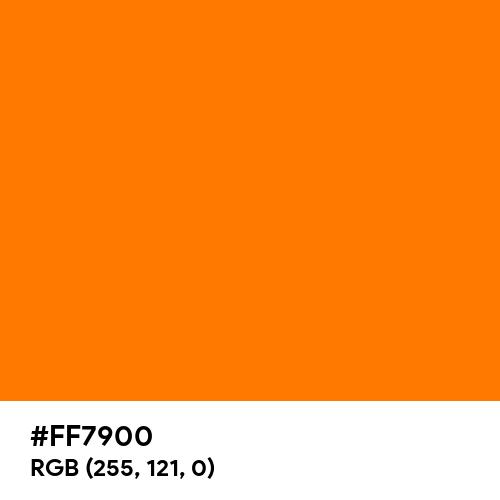 Safety Orange (Hex code: FF7900) Thumbnail