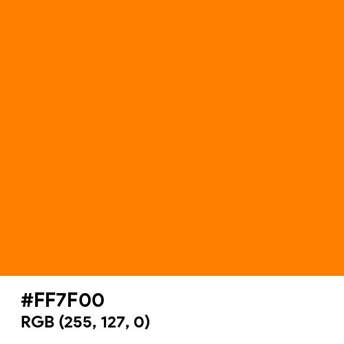 Orange (RGB) (Hex code: FF7F00) Thumbnail