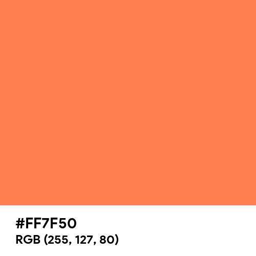Coral (Hex code: FF7F50) Thumbnail