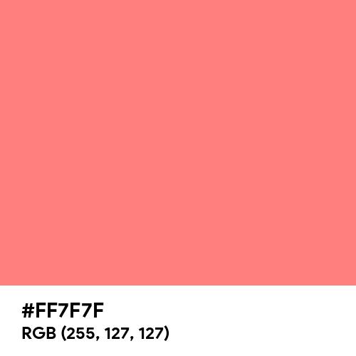 Light Red (Hex code: FF7F7F) Thumbnail