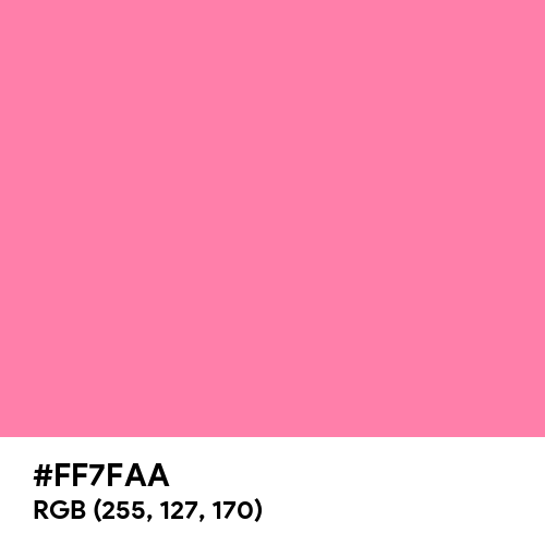 Tickle Me Pink (Hex code: FF7FAA) Thumbnail