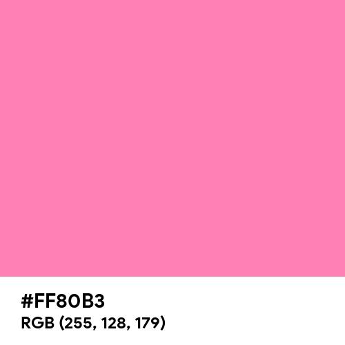 Tickle Me Pink (Hex code: FF80B3) Thumbnail