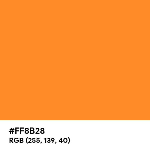 Bright Orange (Hex code: FF8B28) Thumbnail