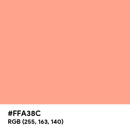 Pastel Coral (Hex code: FFA38C) Thumbnail