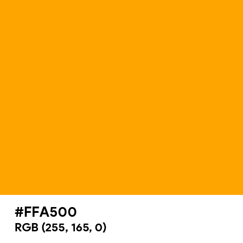 Orange (Hex code: FFA500) Thumbnail