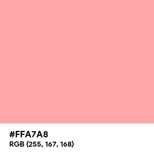 Fresh Red (Hex code: FFA7A8) Thumbnail