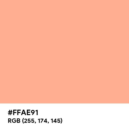 Vivid Tangerine (Hex code: FFAE91) Thumbnail