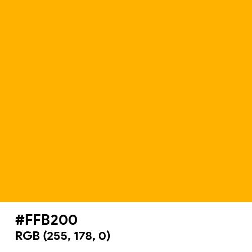 Chinese Yellow (Hex code: FFB200) Thumbnail