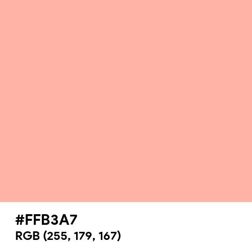 退紅 (Arazome) (Hex code: FFB3A7) Thumbnail