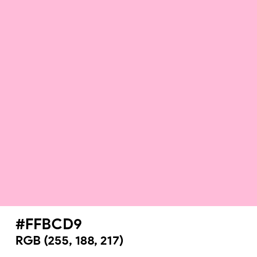 Cotton Candy (Hex code: FFBCD9) Thumbnail