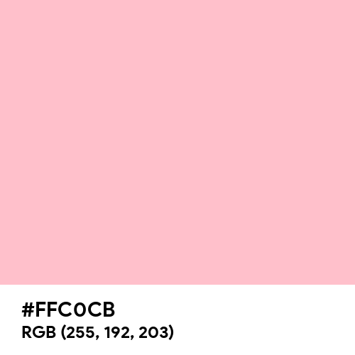 Pink (Hex code: FFC0CB) Thumbnail