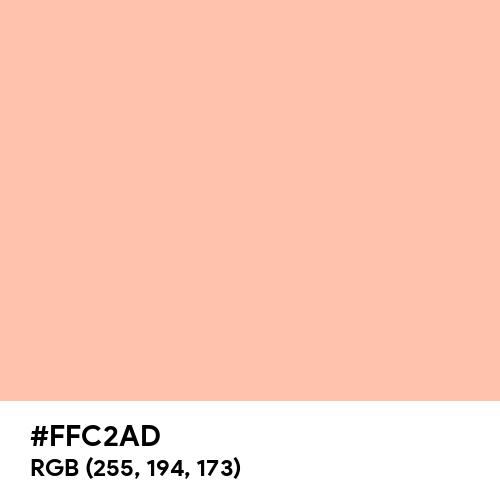 Melon (Hex code: FFC2AD) Thumbnail