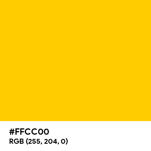 Dark Yellow (Hex code: FFCC00) Thumbnail