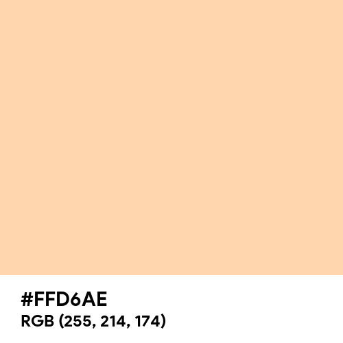 Soft Topaz (Hex code: FFD6AE) Thumbnail