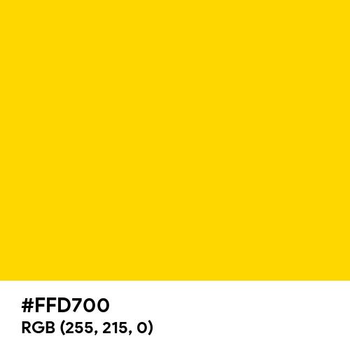Gold (Web) (Golden) (Hex code: FFD700) Thumbnail