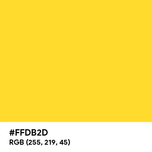 New Gold (Hex code: FFDB2D) Thumbnail