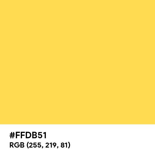 Bright Gold (Hex code: FFDB51) Thumbnail