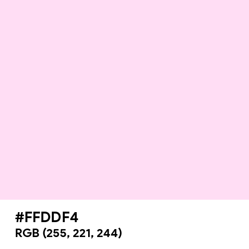 Pink Lace (Hex code: FFDDF4) Thumbnail