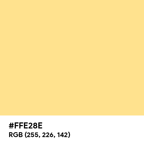 Flavescent (Hex code: FFE28E) Thumbnail