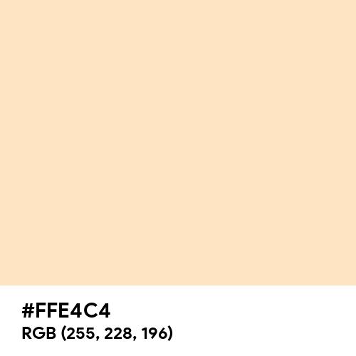 Bisque (Hex code: FFE4C4) Thumbnail