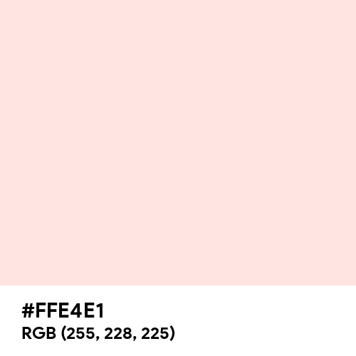 Misty Rose (Hex code: FFE4E1) Thumbnail