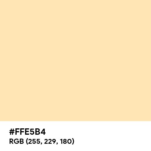 Peach (Hex code: FFE5B4) Thumbnail