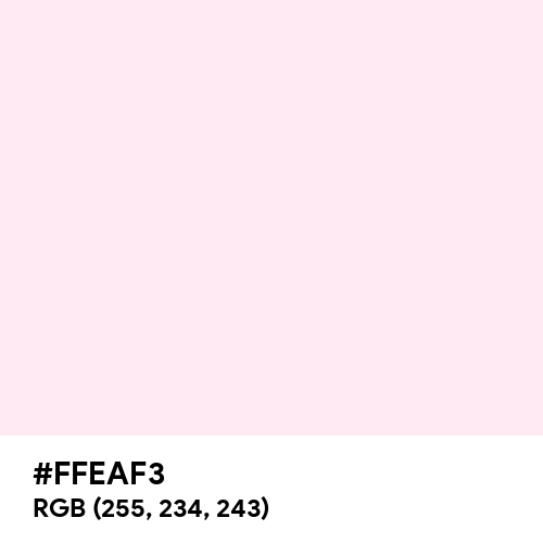 Pink Crystal (Hex code: FFEAF3) Thumbnail