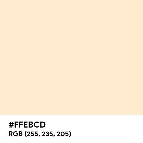 Blanched Almond (Hex code: FFEBCD) Thumbnail