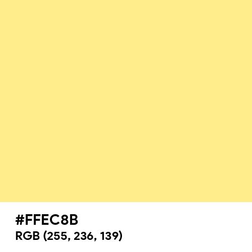 Light Goldenrod (PWG) (Hex code: FFEC8B) Thumbnail