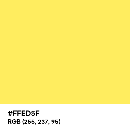 Canary Yellow (Hex code: FFED5F) Thumbnail