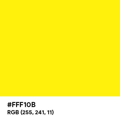 Yellow CMYK (Hex code: FFF10B) Thumbnail