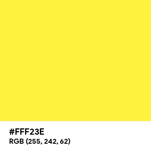 Cadmium Yellow Lemon (Hex code: FFF23E) Thumbnail