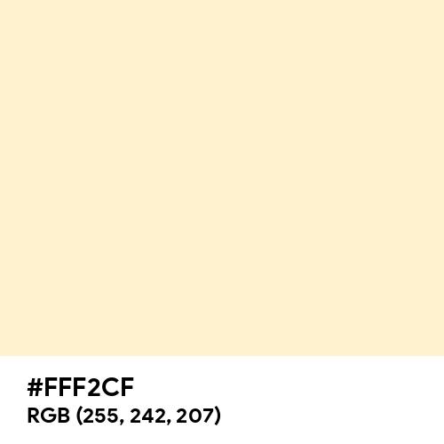 Papaya Whip (Hex code: FFF2CF) Thumbnail