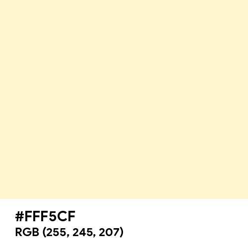 Lemon Chiffon (Hex code: FFF5CF) Thumbnail