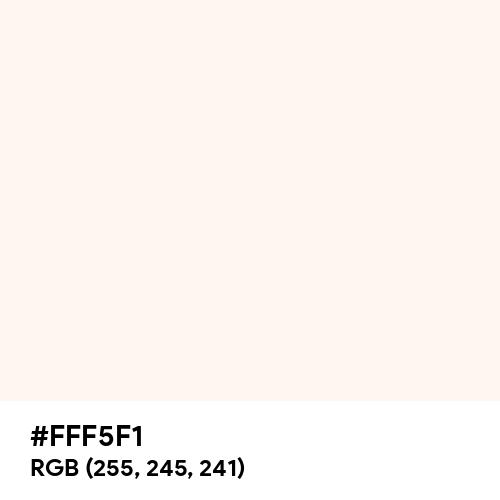 Seashell (Hex code: FFF5F1) Thumbnail