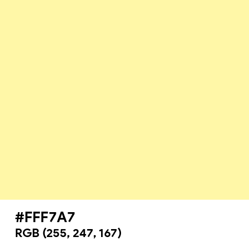 Calamansi (Hex code: FFF7A7) Thumbnail
