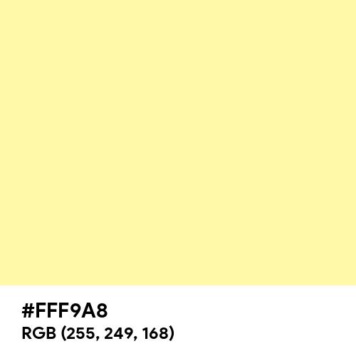 Calamansi (Hex code: FFF9A8) Thumbnail