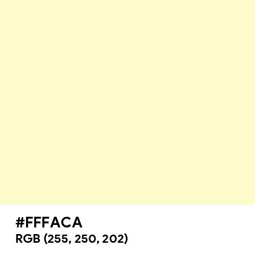 Very Pale Yellow (Hex code: FFFACA) Thumbnail