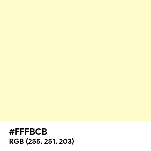 Lemon Chiffon (Hex code: FFFBCB) Thumbnail