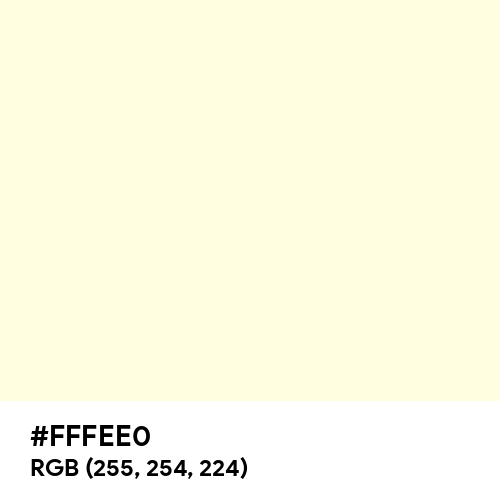 Pastel Cream (Hex code: FFFEE0) Thumbnail